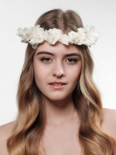 Real Flower Hair Crown, Hydrangea Wedding Hair Wreath
